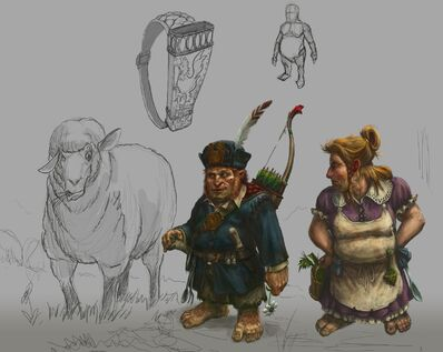 Halflings Warhammer Online por Michael Phillippi