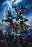 Tyrion y Teclis color por Paul Dainton