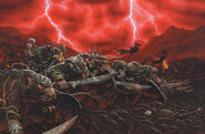 Guerreros Skavens por Karl Kopinski