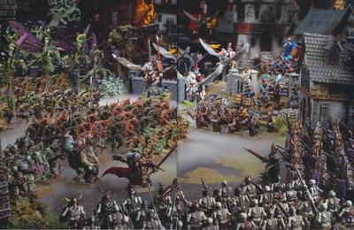 Batalla templo shallya caos bretonia vampiros imperio