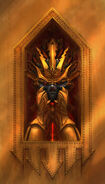 Pedestal del cráneo Escalera Baluarte Warhammer Online por Michael Phillippi