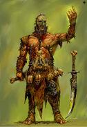 Bárbaro del Caos Nurgle (3) por Adrian Smith