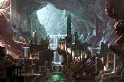 Ciudad Subterranea Altos Elfos por Chris Dien