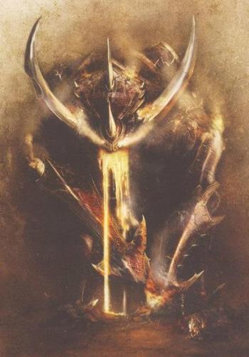 Destructor K'daai Enanos del Caos Forge World ilustración