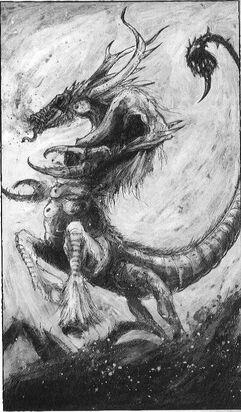 Diablo de Slaanesh 02 por John Blanche