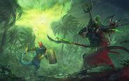 Tehenhauin ikit claw warhammer total war por Lie Setiawan