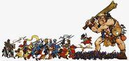 Bretonia contra Goblins Nocturnos y Gigante por Dave Gallagher