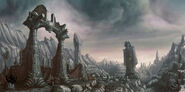 Warhammer AoR Mourkain Morgheim ruinas estructura Michael Phillippi