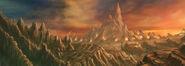Escenario Montaña Warhammer Online por Michael Phillippi