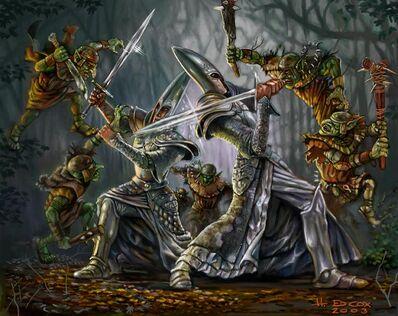 Grupo de Goblins Silvanos por H. Ed Cox Altos Elfos