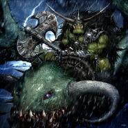 Orco Serpiente Alada Clint Langley