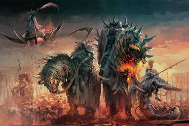 Campeones del Caos en Monturas Demoníacas