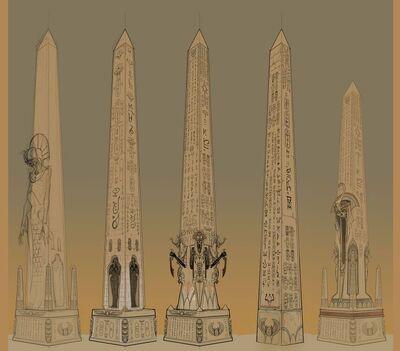 Obeliscos Reyes Funerarios por Ted Beargeon