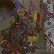 Arlequines de Taber por Adrian Smith Bretonia Caballeros del Reino