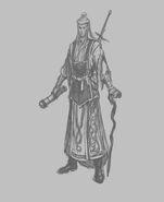 Entrenador Alto Elfo Boceto Warhammer Online por Michael Phillippi