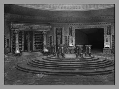 Biblioteca Interior Reyes Funerarios por Sven Bybee