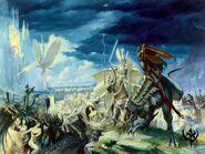 El Asalto a Lothern por Paul Dainton Altos Elfos contra Elfos Oscuros