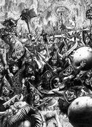 Goblins Nocturno por John Blanche