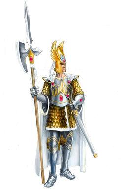 Guardia del Fénix por Gergely Fejervary Warhammer Mark of Chaos