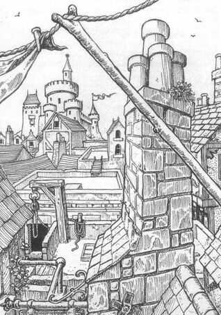 Tejados ciudad del Imperio por Gary Chalk