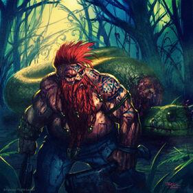 Dwarf serpent slayer by ilich henriquez by ilacha-d7ue9x1 Enano Matador