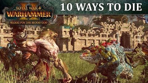 Total War WARHAMMER II - Vídeo diez formas de morir.