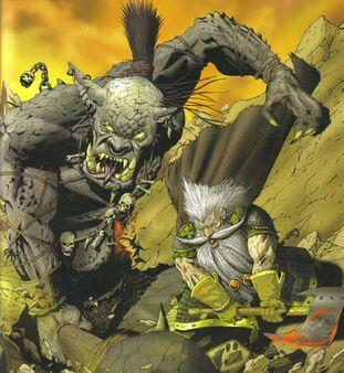Comic El Enano Blanco contra Ghrandukker por Karl Richardson
