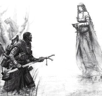 Caballero Andante encontrando a la Dama