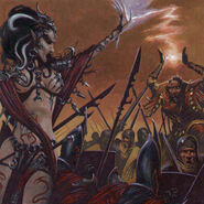 Adrian Smith Hechicera Elfa Oscura contra Imperio
