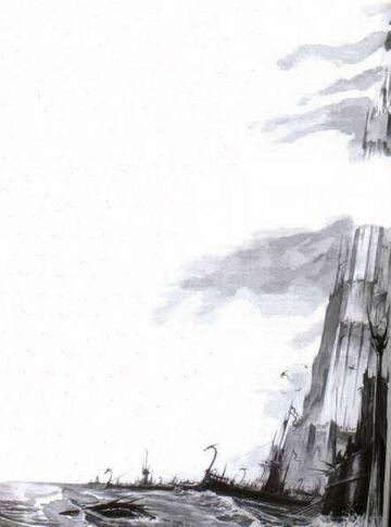 Ciudad Puerto Elfos Oscuros por Dave Gallagher