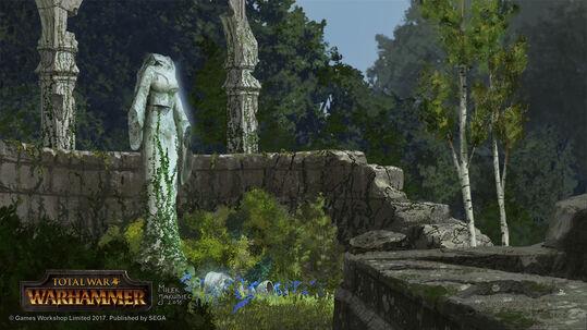 Estatua olvidada Bretonia por Milek Jakubiec Warhammer Total War
