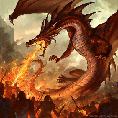 Dragón de Fuego por Sandara
