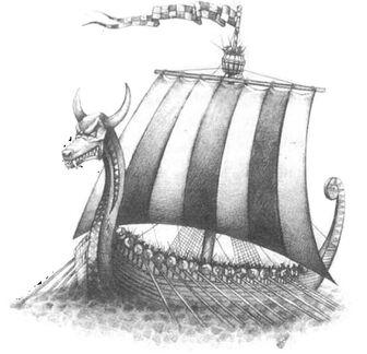 Norse Longship nórdico