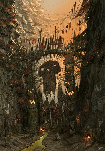 Portalón Orco Karak-ocho-Picos por Jonathan Kirtz Warhammer Online