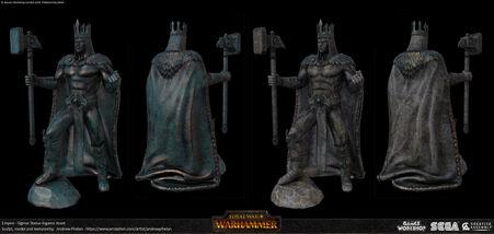 Estatua de Sigmar por Andrew Phelan Total War