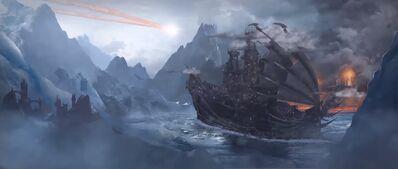 Barco Elfos Oscuros Total War Warhammer 2