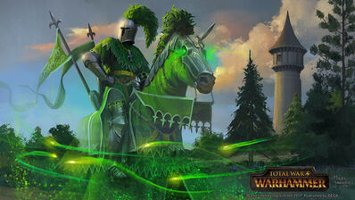 El Caballero Verde por Milek Jakubiec Warhammer Total War