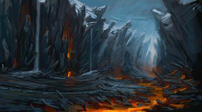 Paso del Fuego Negro arte conceptual Warhammer Total War - (2)