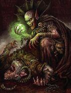 Vampiro necrarca vidente gris por Pat Loboyko
