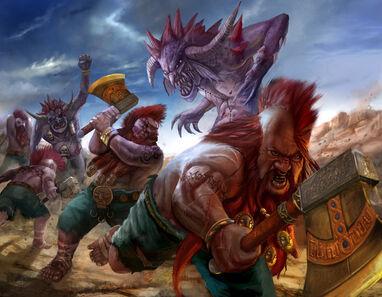 Matatrolles Warhammer por Erfian Asafat masterchomic Enanos Matadores