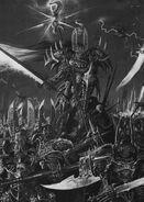 Paladín y Guerreros del Caos por Adrian Smith Tzeentch