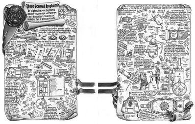 Bocetos Tanque a Vapor del Impeiro por Jonathan Greene y Ralph Horsley