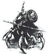 Jinete de araña goblin por Mark Gibbons