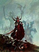 Portada Libro de ejército Elfos Oscuros 8ª edición por Paul Dainton