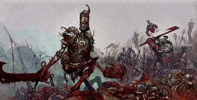 Tiernen Trevallion illus15 Caos Guerreros mutantes Bestias