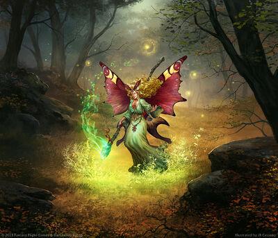 Warhammer invasion Reina Ariel en el Bosque por Jb Casacop