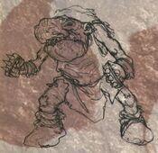 Guerrero Gnoblar Reinos Ogros 6ª Edición boceto