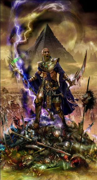 Portada El ascenso de de Nagash Nagash, el Hechicero por Jon Sullivan