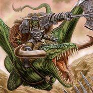 Kaudillo Orco en Serpiente Alada por Michael Phillippi