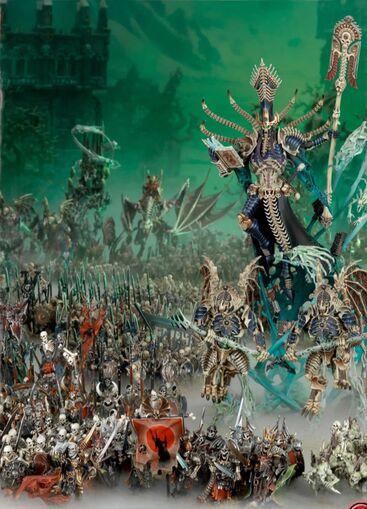 Nagash liderando a los no muertos